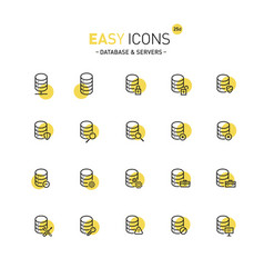 Easy icons 25d database vector