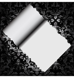 floral decorative paper vector image vector image