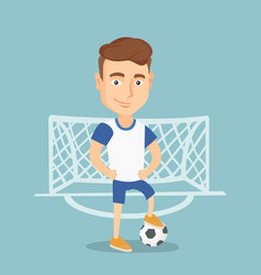 football player with a ball vector image vector image