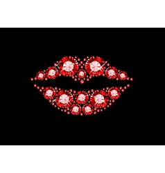 Gem lips vector