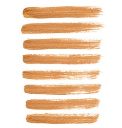Gold ink brush strokes vector image vector image