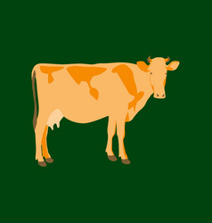 In flat style cow vector