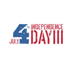 independence day 4th july logotype patriotic vector image