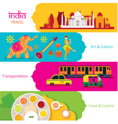 India travel banner set vector