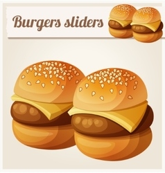 Kids burgers sliders detailed icon vector