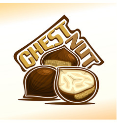logo for chestnut vector image vector image