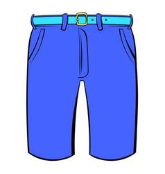 men shorts icon cartoon vector image vector image