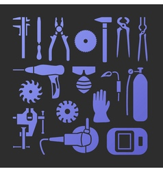 Metaworking icons set vector image vector image