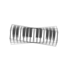 Piano keyboard sign gray icon shaked at vector