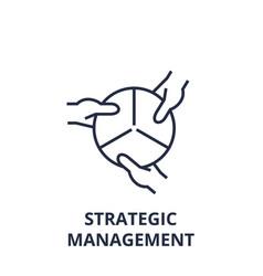 strategic management line icon outline sign vector image vector image
