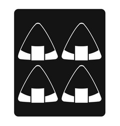 Sushi icon simple style vector