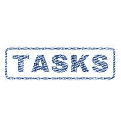 Tasks textile stamp vector