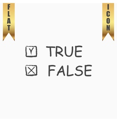 True and False icon vector image