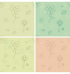 Vintage seamless pattern set vector image vector image