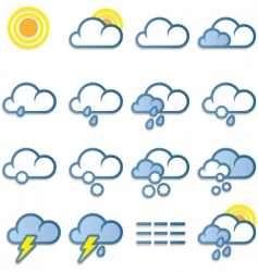 weather forecast icon vector image vector image