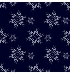 Dark Snowflakes Background vector image