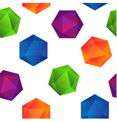 Colorful gradient diamonds seamless pattern on vector