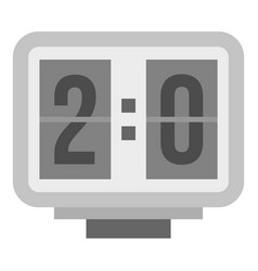 electronic soccer scoreboard icon isolated vector image