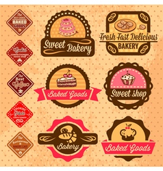 Baked goods design elements vector