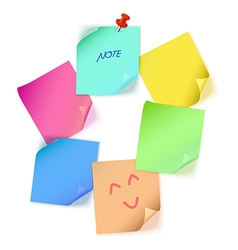 Various color paper note vector