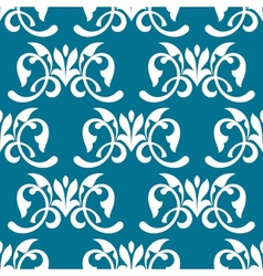 Blue decorative seamless pattern vector image