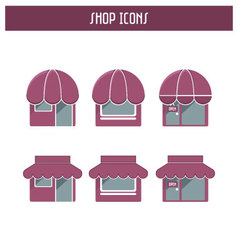 Set of the shop icons vector