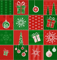 Christmas wrapping paper vector image