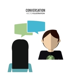 People and communication icons design vector