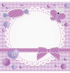 violet frame vector image