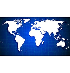 Blue world map design vector