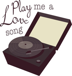 Play a love song vector