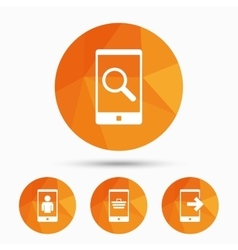 Phone icons video call online shopping vector