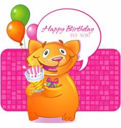 birthday cat vector image vector image