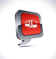 Bus 3d balloon button vector image vector image