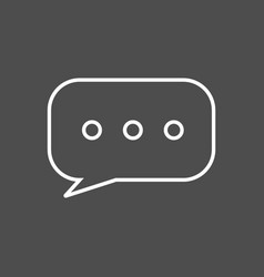 Chat or text messaging bubbles with dots line art vector
