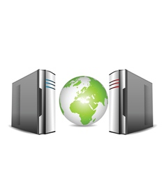 computer servers vector image vector image