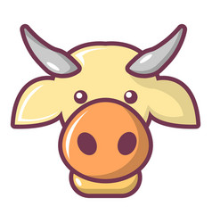 Cow head icon cartoon style vector