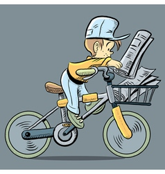 Cute paper boy vector