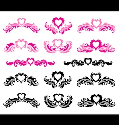 Decorative romantic elements vector image vector image