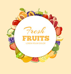 Different kinds of fruits background vector