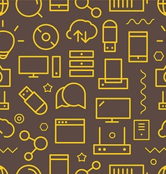 Different web icons seamless pattern Lineart conce vector image