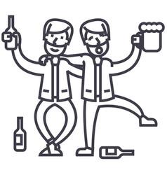 drunk peopledrunk partytwo men drinking vector image