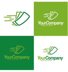 fast cash logo icon and logo vector image