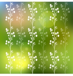 Floral background with flowers and leaves vector image vector image