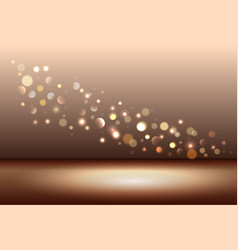 gold shiny sparkles vector image vector image