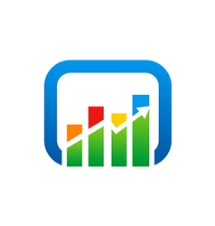 Graph arrow color finance logo vector
