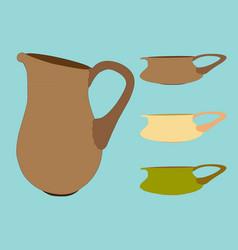 image of jug and pots vector image
