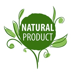 Logo for organic products in the form of plants vector