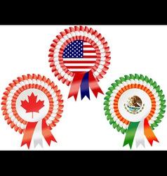 North american rosettes vector