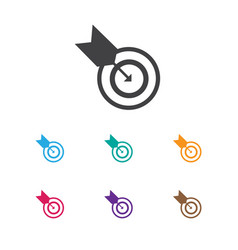 of education symbol on goal vector image